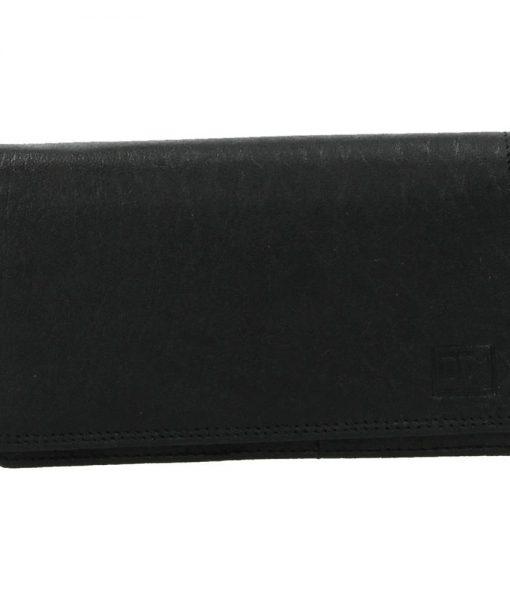 Dames harmonica portemonnee zwart04