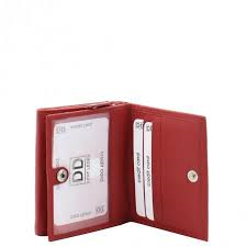 99615fa8b66 Dames portemonnee rits klein rood - Lute Lederwaren