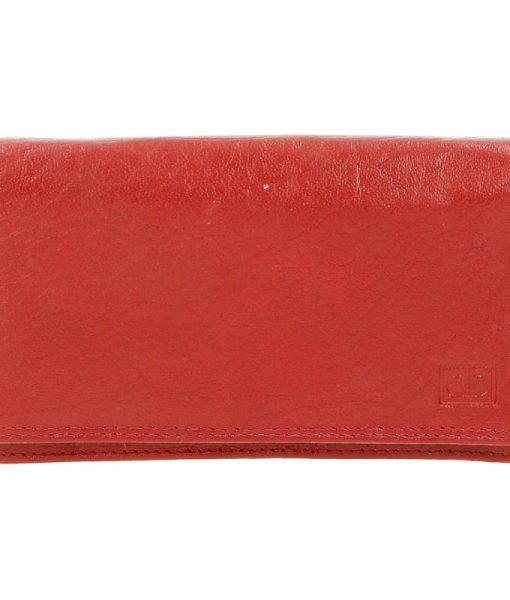 Dames harmonica portemonnee rood 04