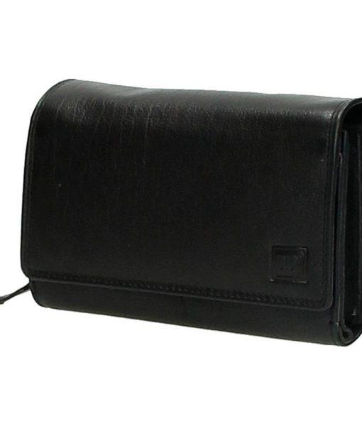 Dames portemonnee veel pasjes zwart04