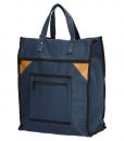 Boodschappentas met canvas handvatten blauw 01