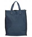 Boodschappentas met canvas handvatten blauw 02