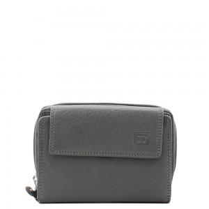Dames portemonnee rits grijs