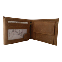 Heren portemonnee bilfold MicMac bruin[laag model}