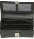 Leren horeca portemonnee koopmansbeurs zwart voor vak DD 05