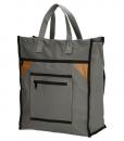 Boodschappentas met canvas handvatten grijs 01