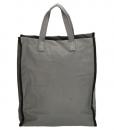Boodschappentas met canvas handvatten grijs 02