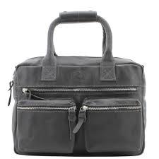 Echt Leren MicMac westernbag A5 zwart