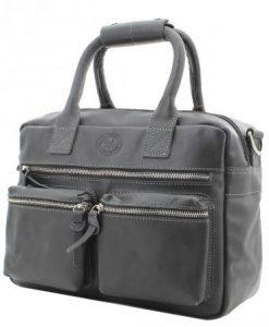 Echt Leren MicMac westernbag A5 zwart01
