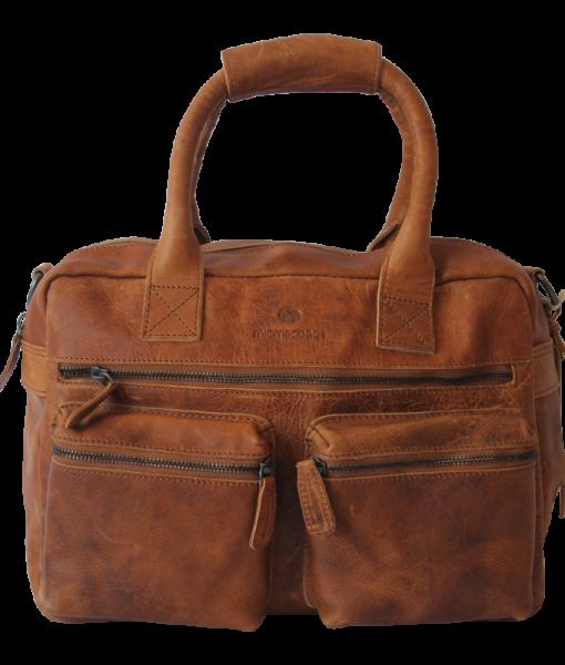Echt Leren MicMac westernbag A5 cognac 02