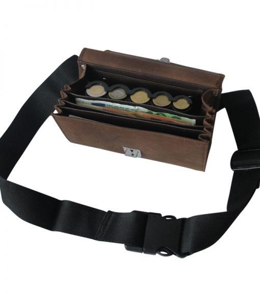 horeca-portemonnee-heuptasje-muntjeshouder-bruin01