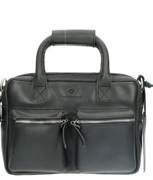 Echt Leren Micmacbags westernbag A6 zwart