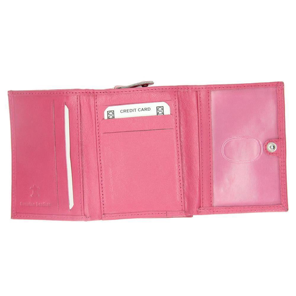 f8b151c3460 Dames portemonnee rits klein roze - Lute Lederwaren