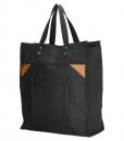 Boodschappentas met canvas handvatten zwart 02