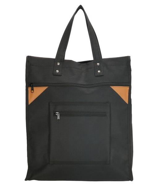 Boodschappentas met canvas handvatten zwart