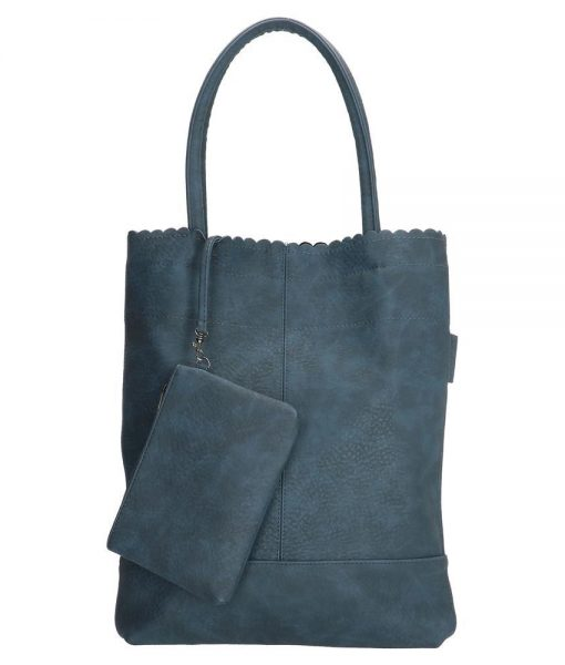 Trendy beagles shopper blauw