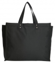 Boodschappentas met canvas handvatten zwart breed 02