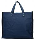 Boodschappentas met canvas handvatten blauw breed 02
