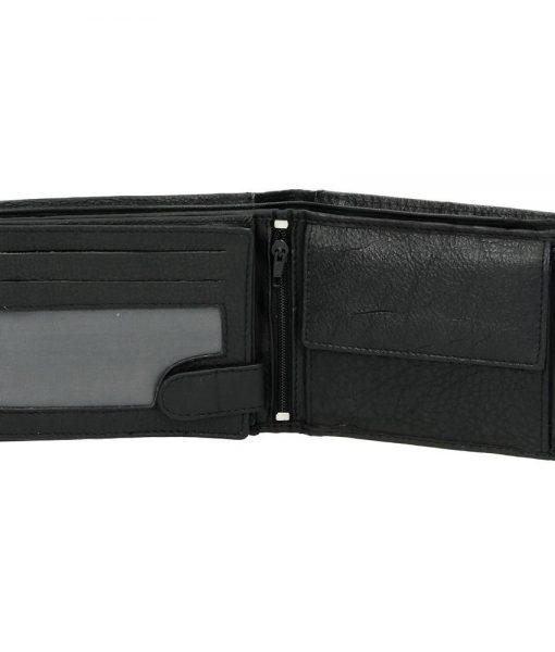 Heren portemonnee zwart Bilfold(laag model)