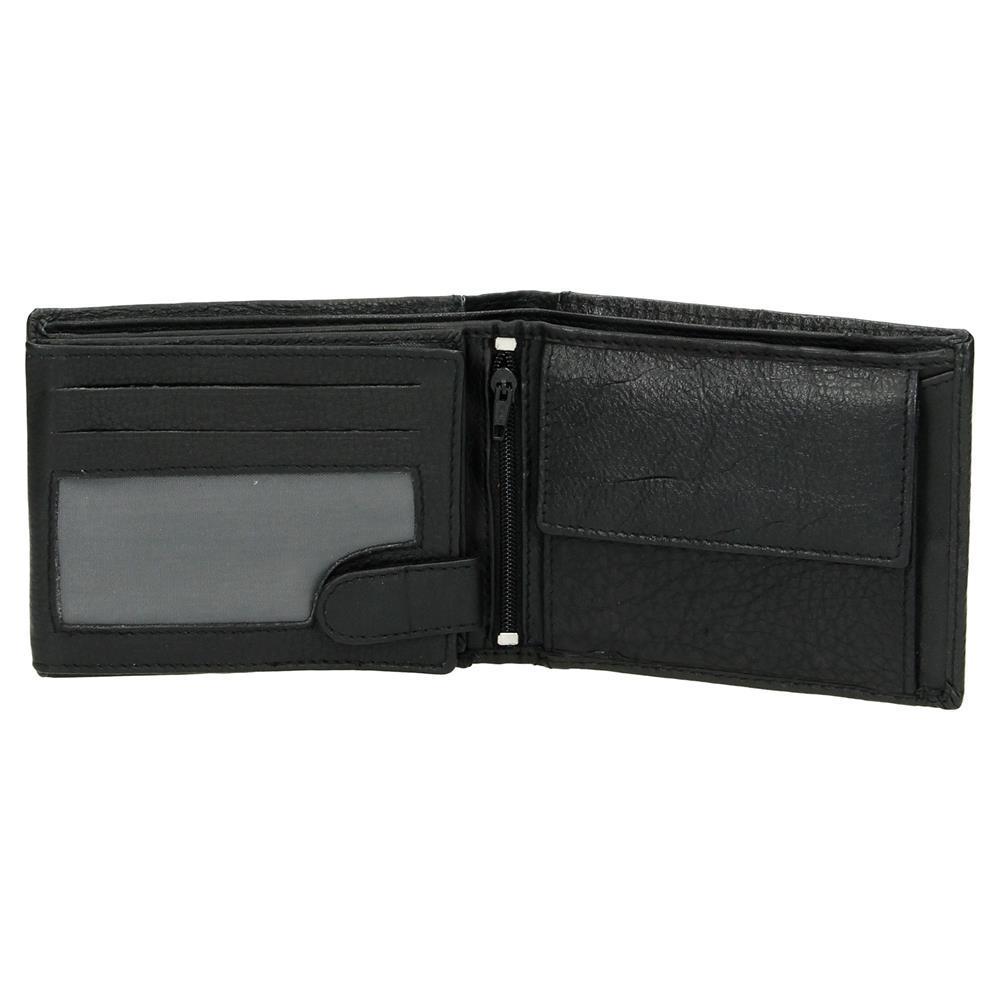 Trendy Heren Portemonnee.Heren Portemonnee Zwart Bilfold Laag Model Rfid Lute Lederwaren
