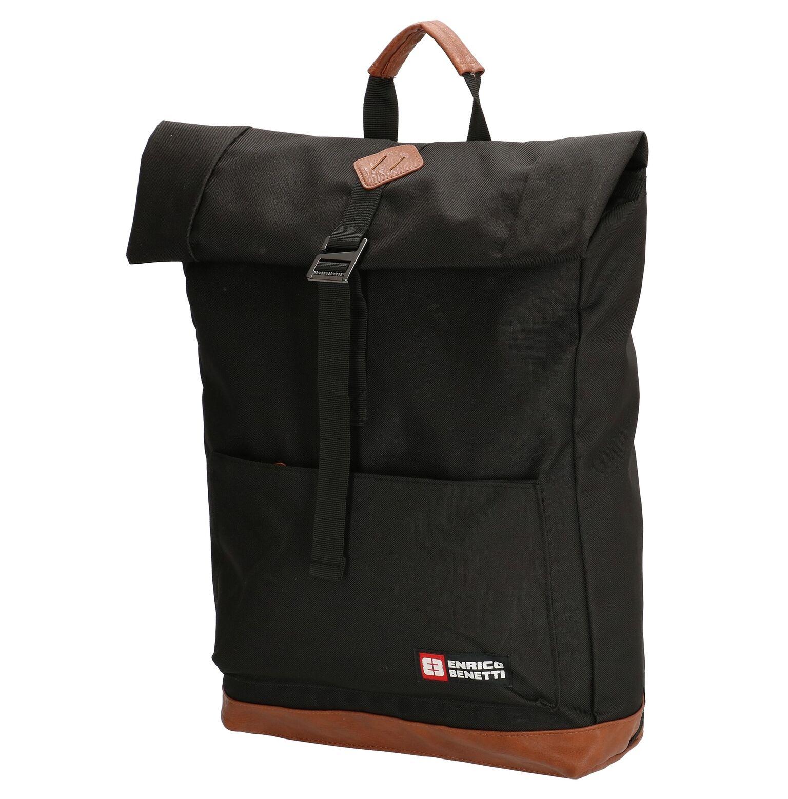 409822ae30b Enrico Benetti rugzak 15.6 inch zwart - Lute Lederwaren