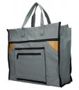 Boodschappentas met canvas handvatten grijs breed 01