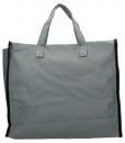 Boodschappentas met canvas handvatten grijs breed 02