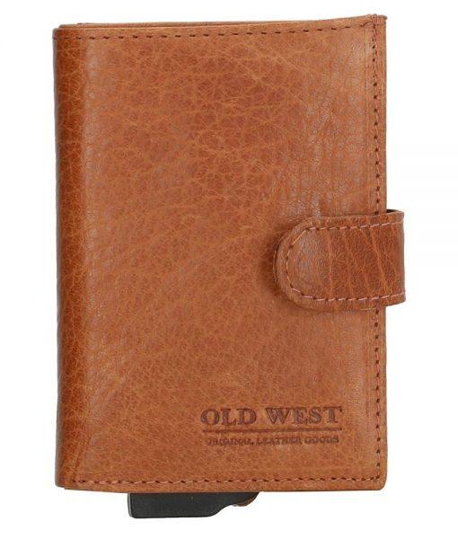 Old West – Leer – Cardprotector Cognac – RFID – 11 pasjes