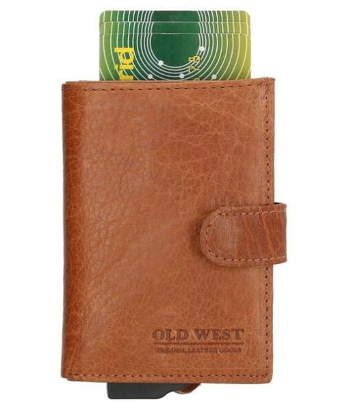 Old West – Leer – Cardprotector Cognac – RFID – 11 pasjes 04