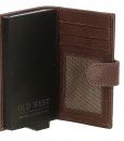 Old West – Leer – Cardprotector Donkerbruin – RFID – 11 pasjes 02