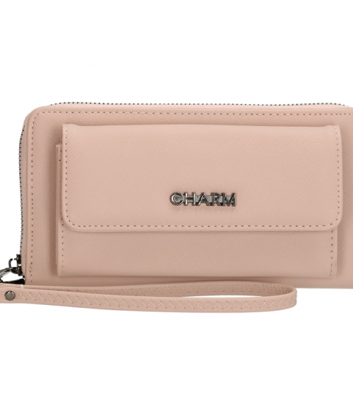 Dames Clutch Portemonnee Charm Pink