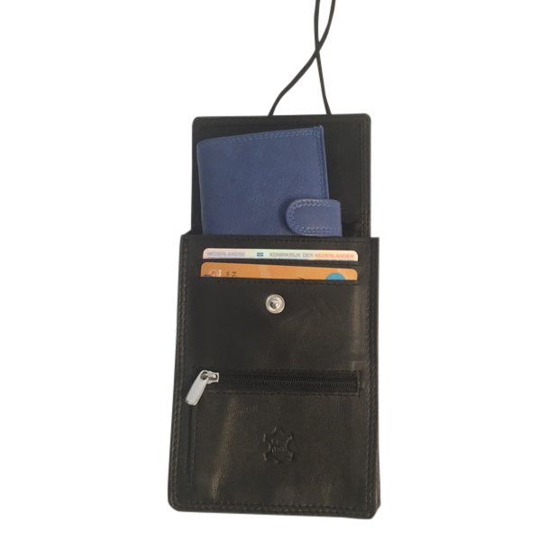 438300a95b7 Leren Nektas – Paspoort tasje – Reistasje – Bodysafe – Onder je Kleding 01