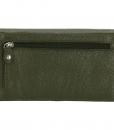 Dames portemonnee harmonica echt Leer Olijf Groen 04