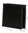 Heren portemonnee zwart Bilfold(laag model) RFID 03