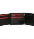 Heren portemonnee zwart Bilfold(laag model) RFID 04