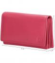 Dames portemonnee harmonica echt Leer Roze (pink) 01