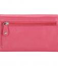 Dames portemonnee harmonica echt Leer Roze (pink) 03